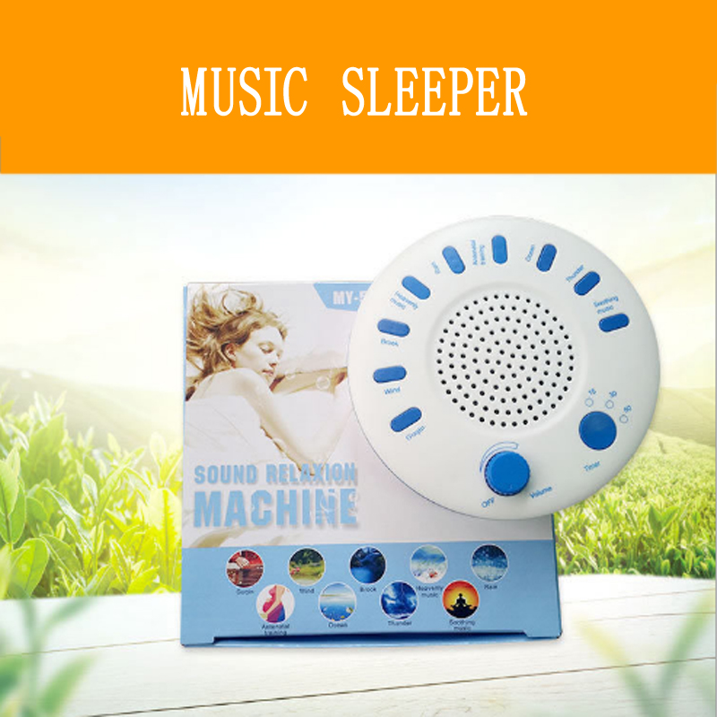 Music Sleeping Instrument Sound Relaxation Therapeutic Machine dormir Sleep Helper with 9 High Quality Nature Music sleeping aid 2