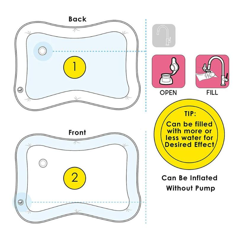 HTB1OX5.ShjaK1RjSZFAq6zdLFXav Baby Kids Water Play Mat Inflatable Infant Tummy Time Playmat Toddler for Baby Fun Activity Play Center Baby Toddler Toys