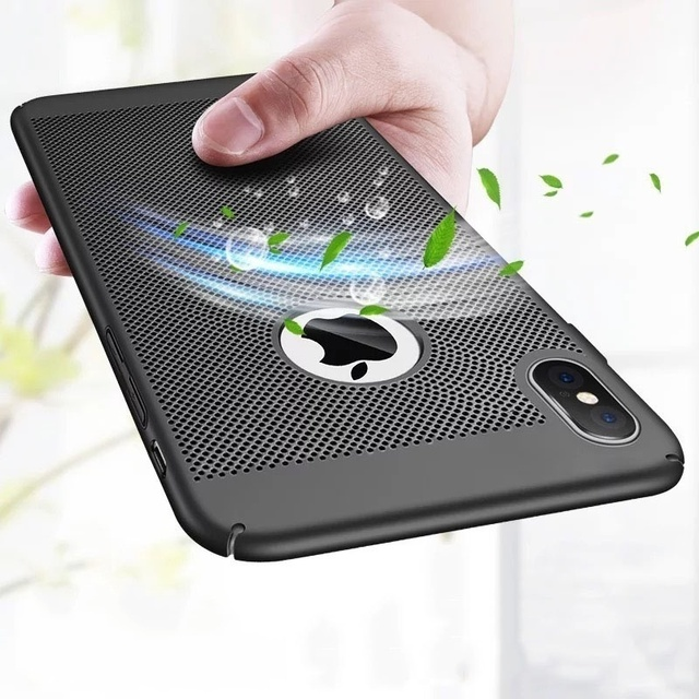 new arrival 58688 7159c US $1.99 |Aliexpress.com : Buy Cool Ultra thin Breathable Case for iPhone X  7 8 6 6s Plus Luxury Hard Plastic Honeycomb Grid Cover Funda for iPhone 5  ...