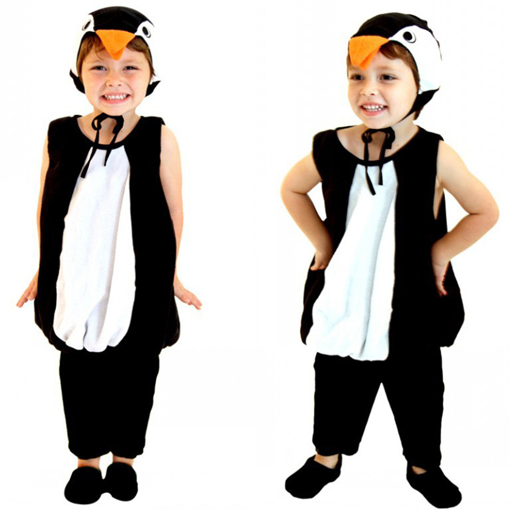 Penguin Costume Kids Animal Jumpsuit Girl's Carnival Party Cosplay Penguin Outfit Halloween Dress For Child Pajamas Costume