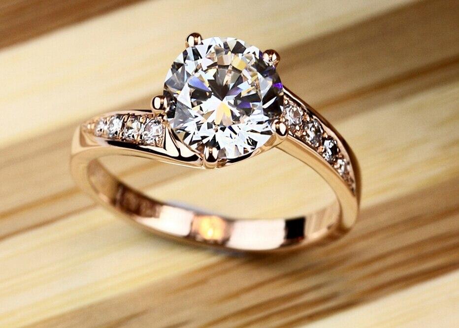ᐊ2 Carat Syntetyczny Diamond Sterling Srebrny Pierścień Mody Retro