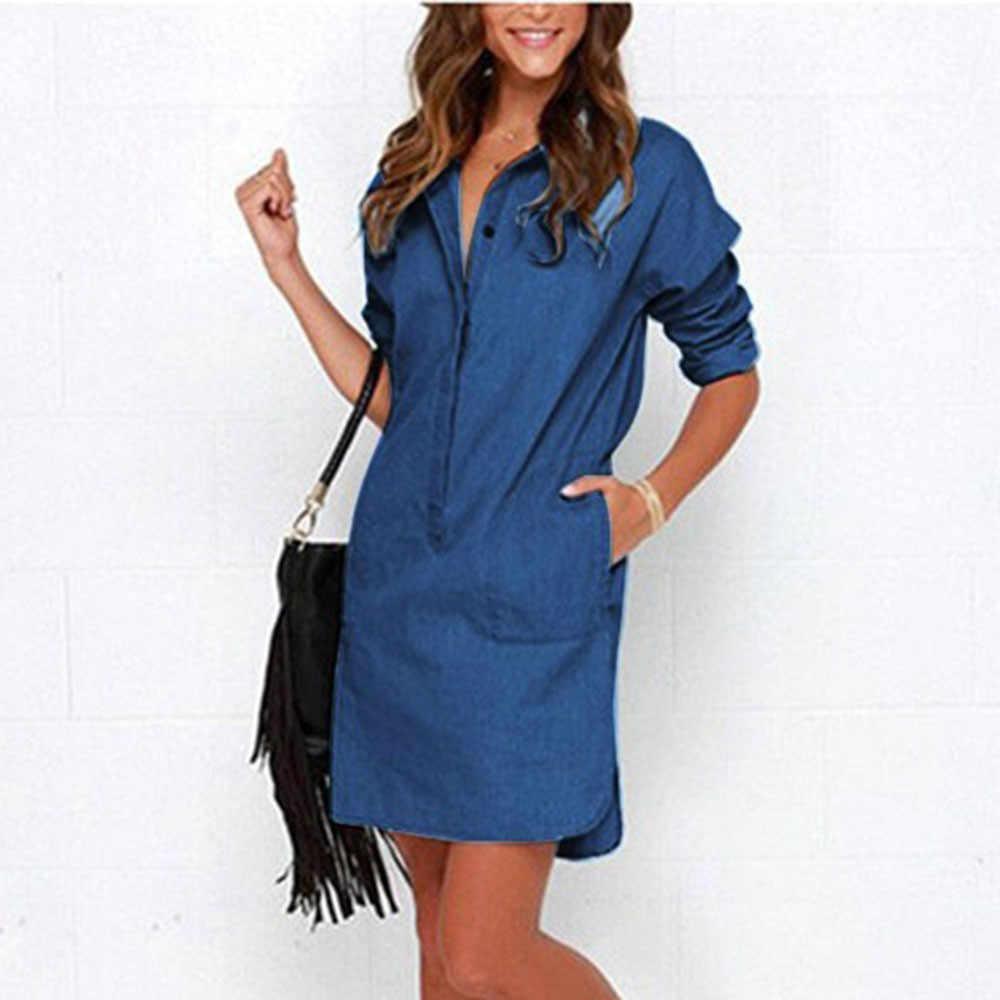 d403b951 Ladies Denim Dress With Pockets - raveitsafe