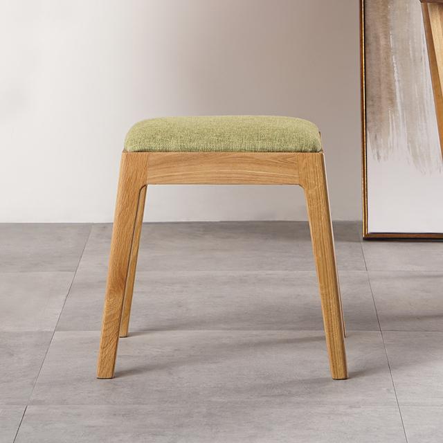 Minimalist Modern Dining Room Furniture Dining Stools Oak Wood Chair Cloth  Dressing Table Stool Fashion Bedroom