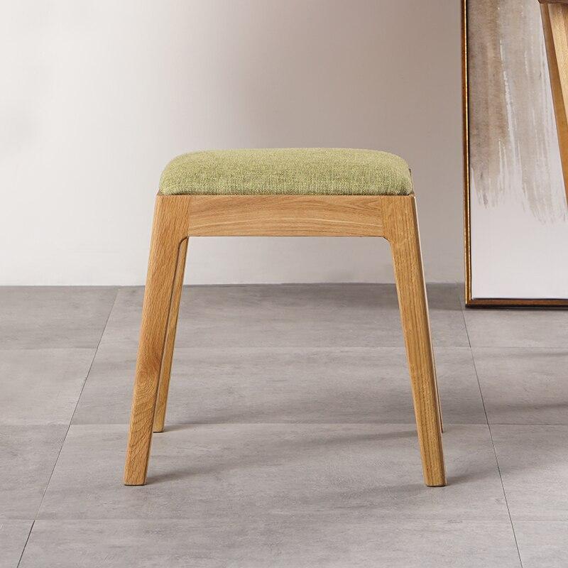 €182.53 |Mobiliario minimalista moderno para comedor, taburetes de comedor,  sillas de madera de roble, taburete de tocador, sillas de maquillaje de ...