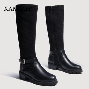 Image 4 - Women Winter Shoes Knee High Boots Big Size High Quality Leather Brand Women Shoes Wool And Plush Women Winter Boots