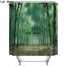 LzL Home 3D Shower Curtain Nature Scenery Eco-friendly Bath Curtain Bathroom Curtain Waterproof Bathroom Products Bath Screen