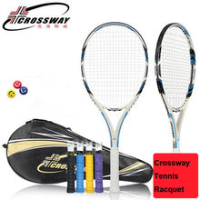 Crossway Brand Tennis Racquet Carbon Fiber Tennis Racket Raquete De Tenis Homme With String Bag Raquetas De Tenis Profesionales(China)