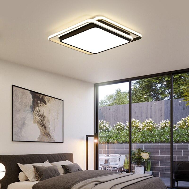 Дар поверхностного монтажа площади потолочные светильники черный, белый цвет светодиодный потолочный светильник современный светильник Г...