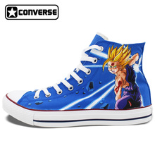 Dragon Ball Son Goku Anime Shoes Man Woman Converse Chuck Taylor Hand Painted Shoes Men Women