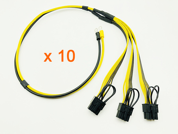 10PCS Power Supply Cable 8Pin Video Card Cables O Terminal to 8Pin Adapter Cable 12AWG+18AWG Splitter Wire for Miner Mining BTC