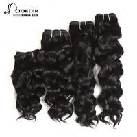 Joedir Pre Colored 4 Bundles Brazilian Milan Wave Hair 8 10 12 14 Inch 160 Gram