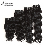 Joedir Pre Colored 4 Bundles Brazilian Milan Wave Hair 8 10 12 14 Inch 160 Gram