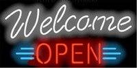 Comprar Bienvenida a la señal de neón a mano barra de luz pub cervecería Club signos tienda
