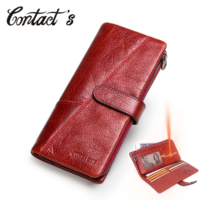 Women Wallet Luxury Brand Genuine Leather Long Female Clutch Wallet High Capacity Ladies Purse Design Money Bag For Dollar Price