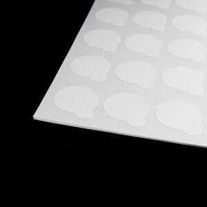 Image 3 - 100 pces suporte de cola de cílios descartáveis pálete extensão de cílios cola almofadas adesivo 2.5cm suporte em cílios jade pedra maquiagem