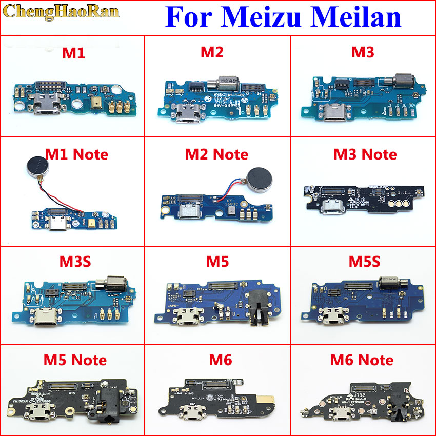 ChengHaoRan Micro Dock Connector Board USB Charging Port Flex Cable Replacement For Meizu Meilan M1 M2 M3 M5 M6 Note M3S M5S