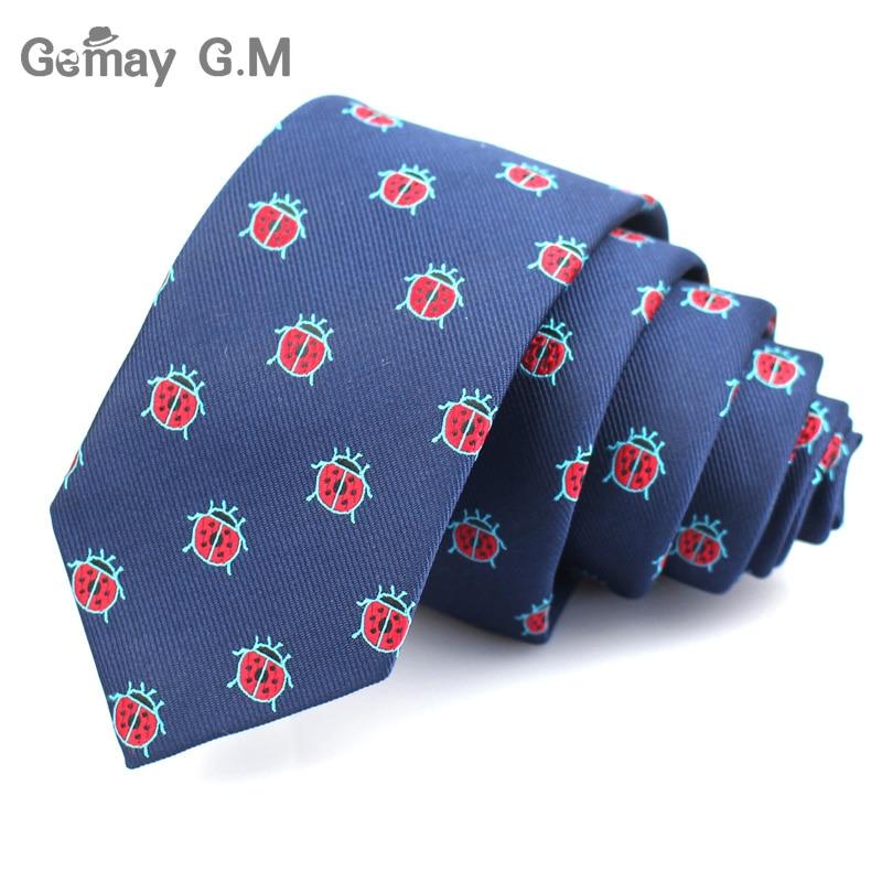 Polyester Jacquard Ties For Men Animal Neckties for Wedding Business Suits 6cm Skinny Wide Neck Ties Slim Gravatas Accessories in Men 39 s Ties amp Handkerchiefs from Apparel Accessories