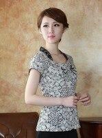 Модные серые китайский Для женщин одежда Хлопок Лен Блузки для малышек рубашка Топы плюс Размеры M, L, XL, XXL, XXXL 4XL бесплатная доставка t-1201