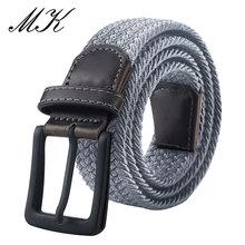 MaiKun ремень мужской ремень холщовые ремни для мужчин с модной металлической пряжкой булавки военные тактические ремни мужской эластичный п...