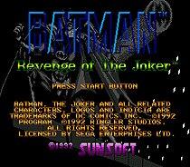 Batman Revenge Of the Joker 16 bit MD card with Retail box for Sega MegaDrive Video Game console system 1