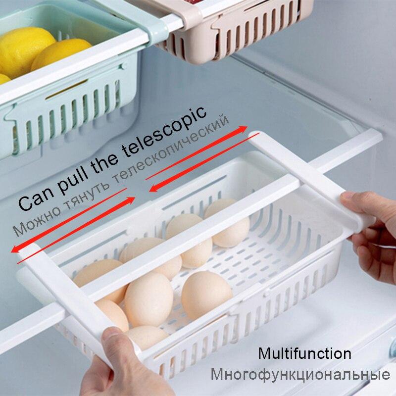 ห้องครัวจัดเก็บห้องครัวตู้แร็คห้องครัวอุปกรณ์เสริม Organizer ชั้นวาง Rack ตู้เย็นชั้นวางของกล่อง