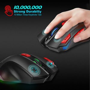 Image 5 - HXSJ new wireless 2.4G gaming mouse wireless mouse 7 key macro definition 4800 adjustable DPI office PC notebook mice
