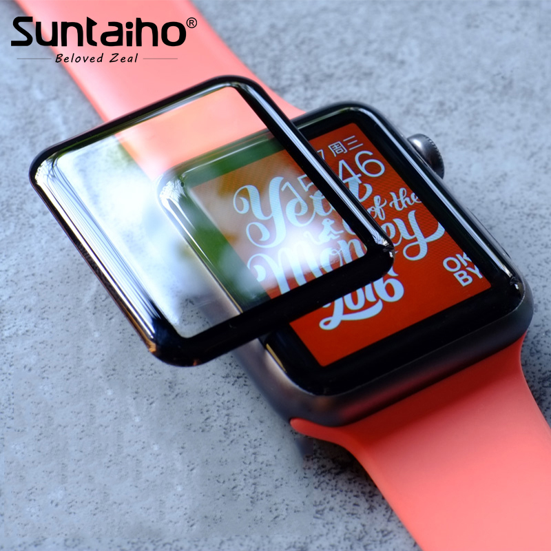Suntaiho protector film for Apple watch 3 for i watch Series 4 Film 3D Full Cover Edge Touch point for i Watch 2Screen Protector