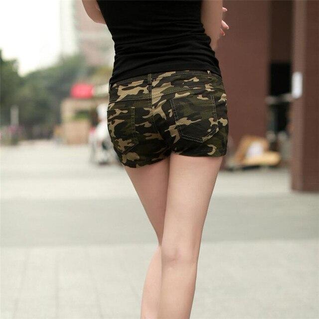 7fc61418943644 2017 Estate pantaloncini Mimetici Moda di base nuovo consiglio shorts Loose  Women Coulisse hot pantaloni Corti