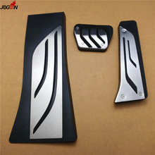 No drilling! Gas Fuel Brake Footrest Foot Pedal Plate Pad Set For BMW F15 X5 2013 2014 F16 X6 2015 AT & MT LHD