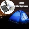 SMD 2835 20 LED Solar Light Bulb Hooking Outdoor Solar Panel Camping Lamp Garden Light Travel Lighting Remote Control