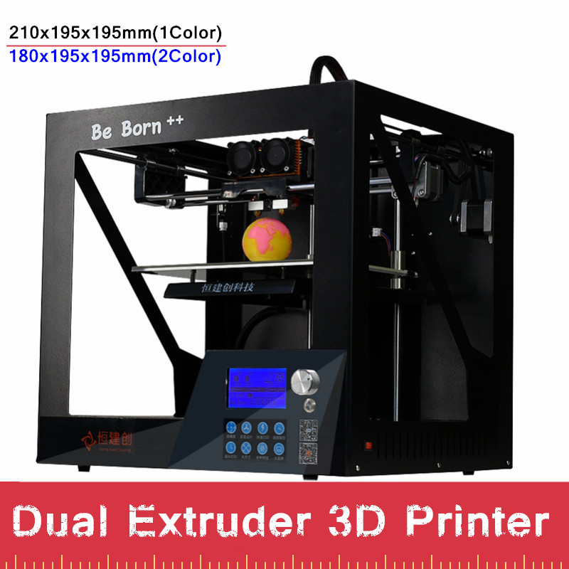 High Precision Sheet Metal Double Color 3D Printer With Free Filament High Performance Dual Extruder 3 D Printer Free Shipping xinkebot 3d printer orca2 cygnus dual extruder high resolution big impressora 3d with free filament