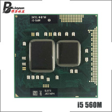 Intel Core i5 560M i5 560 SLBTS 2.6 GHz Dual Core Quad חוט מעבד מעבד 3W 35W שקע G1/rPGA988A
