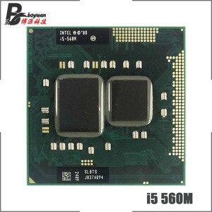 Image 1 - Intel Core i5 560M i5 560 SLBTS 2.6 GHz Dual Core Quad חוט מעבד מעבד 3W 35W שקע G1/rPGA988A