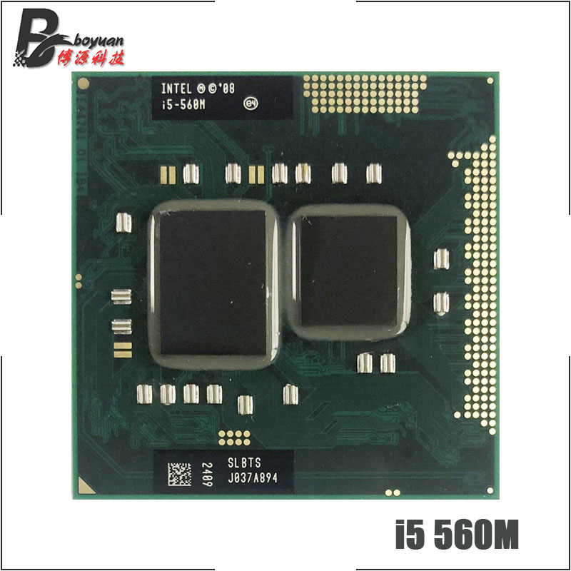Intel Core i5 560M i5 560M SLBTS 2.6 GHz Dual Core Quad Thread CPU Processor 3W 35W Socket G1 / rPGA988A-in CPUs from Computer & Office on
