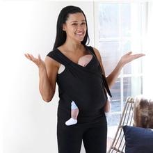 Универсальный для женщин кенгуру сажи футболки для мужчин папа детская футболка переносчик для новорожденного Hands Free