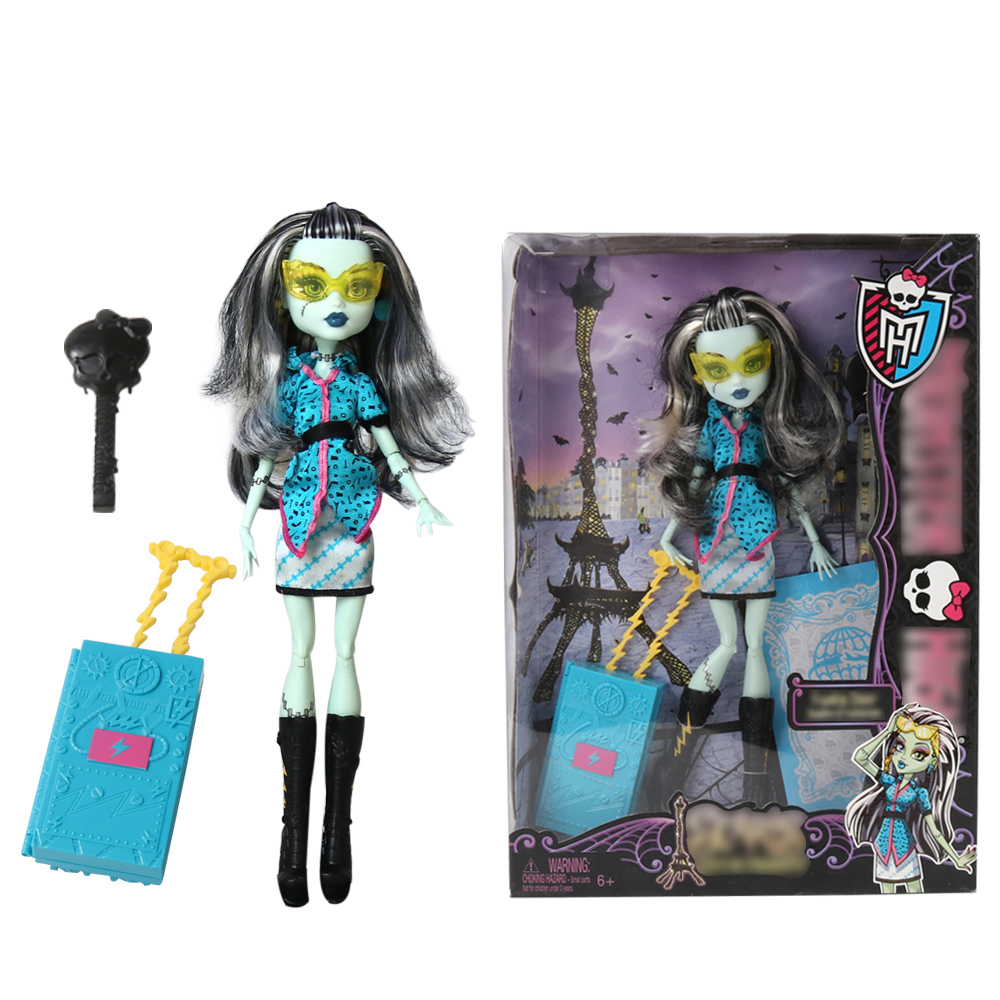 Original Brand 30CM Monster Doll High Quality Fashion Dolls Favorites Frankie Stein Doll 2 Styles For Collection Girls Toys new original body for monster dolls best gift toys to child many styles to choose monster dolls only the body free shipping