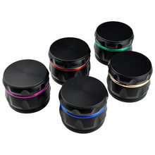 COOL Black Style Aluminum Grinder Tobacco Grinder Crusher Herb Spice Grinder Herbal Grinder Hand Muller Spice Mills(China)