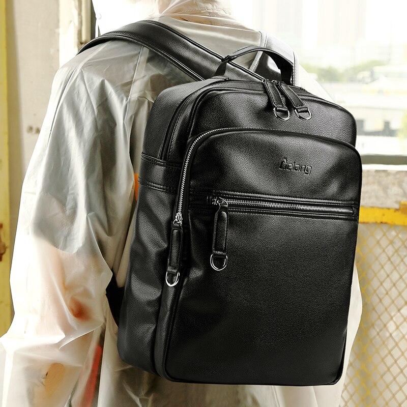 LIELANG 2019 hommes sac à dos mode cuir sacs à dos sacs pour ordinateur portable externe USB Charge ordinateur antivol sac à dos femmes - 4