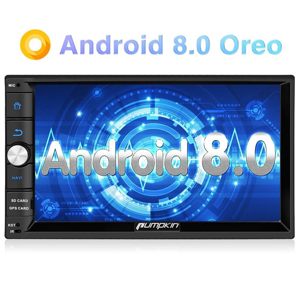 Pumpkin 2 Din 7'' Android 8.0 Universal Car Radio No DVD Player GPS 2G RAM 32G ROM Car Stereo Audio Wifi 3G Fast Boot Headunit