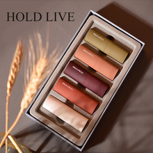 HOLD LIVE Matte Lipstick Palette Nude Minerals Professional Eye Shadow Powder Pigment Cosmetic Waterproof Matte Makeup Lipstick