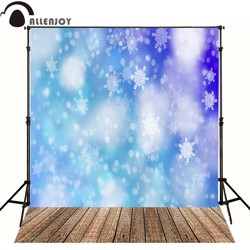 Allenjoy photographic background Blue Christmas Snowflake floor backdrops for sale photography fantasy professional high quality allenjoy photography backdrops for sale black and white floor kids vinyl professional photographic background studio