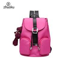 2017 женщин рюкзак Симпатичный Кулон хорошее качество небольшой мини рюкзак Старинные черный рюкзак школьные сумки для девочек-подростков Z307