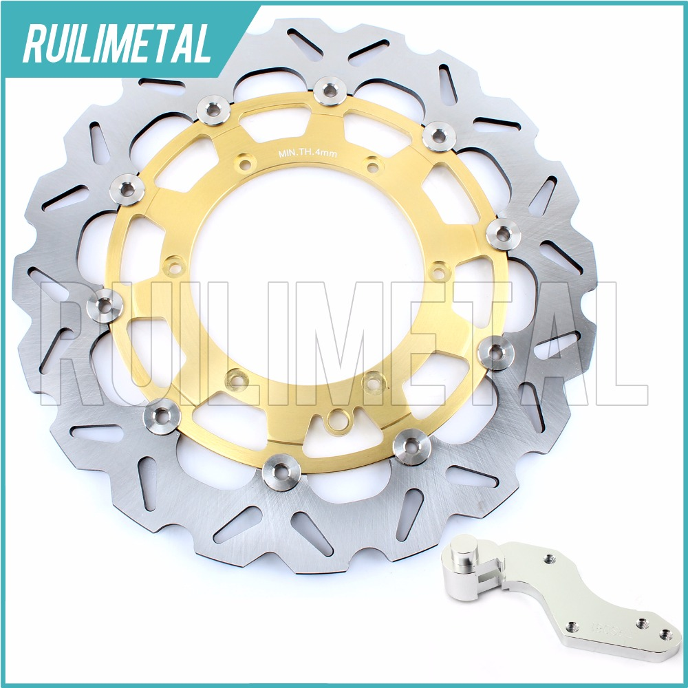 320mm oversize Front Brake Disc Rotor Bracket Adaptor for KTM LC4 SC SUPERCOMP SUPERMOTO 620 SXC 625 640 98 99 00 01 02 keoghs real adelin 260mm floating brake disc high quality for yamaha scooter cygnus modify