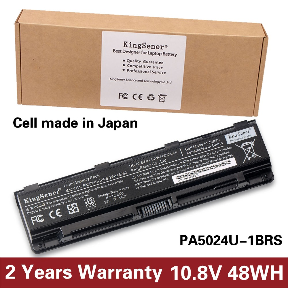 KingSener Korea Cell PA5024U Battery For Toshiba Satellite C800 C850 C870 L800 L830 L850 L855 L870 PA5025U PA5024U-1BRS PABAS260 ноутбук toshiba l800 c27w i5 2g l800 c50w1 c40 at01w1