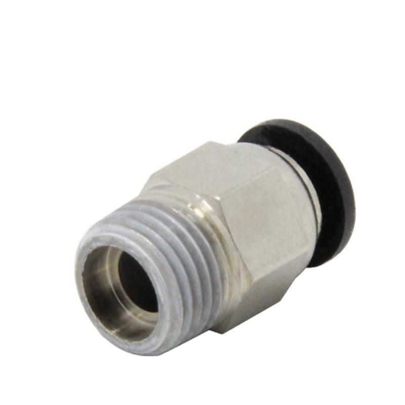 3D Printer V6 J-Head Pneumatic Connector 1.75mm PTFE Tube Quick Coupler Fitting
