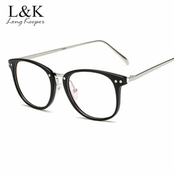 LongKeeper 2019 Brand Optical Glasses Black Frame Women Men Top Quality Computer Eyeglasses Round Women's Transparent Spectacle