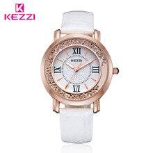 Nueva llegada de la manera señora lolita Mujeres reloj de cuarzo reloj impermeable del cuarzo del diamante de cuero momo 6 Colores Reloj relojes feminino