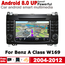 7 HD Stereo Android Car DVD GPS Navi Map For Mercedes Benz A Class W169 2004~2012 NTG 2 DIN multimedia player radio System цена