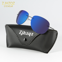 ZJHZQZ High-end B-Titanium Ultra Light Rimless Polarized Sun