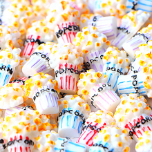 10Pcs/lot Popcorn Diy Slime Charms Supplies Accessories For Filler Miniature Resin Kids Polymer Plasticine Gift